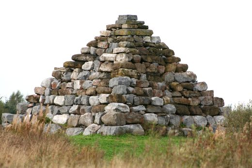 Boora Pyramid; site-specific object, Lough Boora